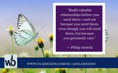 Valuable relationships: a sure route to success